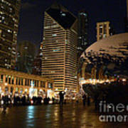 Cloudgate In Snow Poster