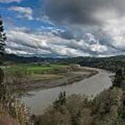 Clouds Above Eel River Poster