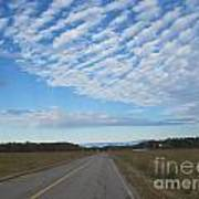 Clouds Along Newman Road Poster