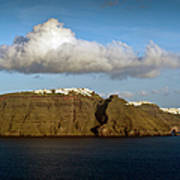 Clouds And Cliffs Poster