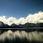 Clouds In The Grand Tetons Poster