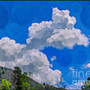 Clouds Loving A Friendly Mountain Landscape Painting Poster