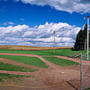 Clouds Over A Baseball Field, Field Poster