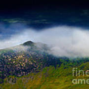 Clouds Over Bull Crag And Maiden Moor Poster
