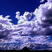 Clouds Over Gavilan Peak Poster
