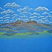 Clouds Over Lassen Poster