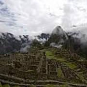 Clouds Over Machu Picchu Poster