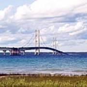 Clouds Over Mackinaw Poster