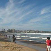 Clouds Over Manly Beach Poster