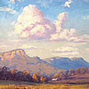 Clouds Over Megalong Poster