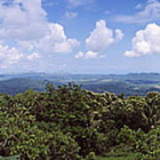 Clouds Over Mountains, Flores Island Poster