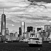 Clouds Over New York Poster