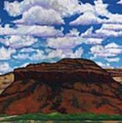 Clouds Over Red Mesa Poster