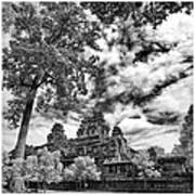 Clouds Over Temple In Siem Reap In Cambodia Poster