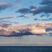 Clouds Over The Atlantic Ocean At Dusk Poster