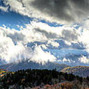 Clouds Over The Blue Ridge Mountains Poster