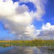 Clouds Over The Grasses Poster