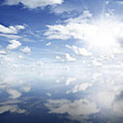 Clouds Reflected Poster