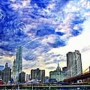 Clouds Van Gogh Poster