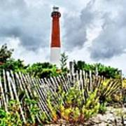 Cloudy At Barnegat Light Poster