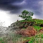 Cloudy Hobbiton Poster