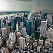 cloudy Manhattan Poster