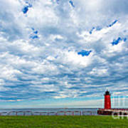 Cloudy Milwaukee Harbor Poster