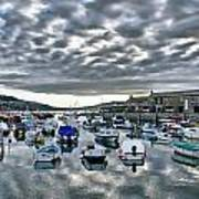 Cloudy Morning - Lyme Regis Harbour Poster