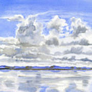 Cloudy Sky with Reflections Poster