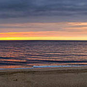 Cloudy Sunrise On Nauset Beach Poster