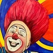 Watercolor Clown #17 Mark Carfora Poster