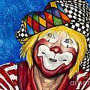 Watercolor Clown #16 Ron Maslanka Poster