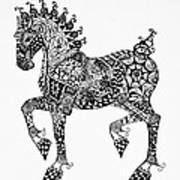 Clydesdale Foal - Zentangle Poster