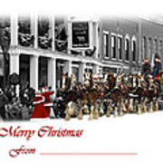 Clydesdale  Team Christmas Card Poster