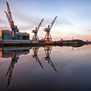 Clydeside Cranes Long Exposure Poster