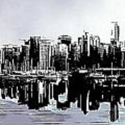 Vancouver  Canada Coal Harbour Triptych Left Panel Poster