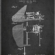 Coal Mining Machine Patent From 1903- Charcoal Poster