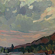 Coast At Sunset Poster by Juliya Zhukova