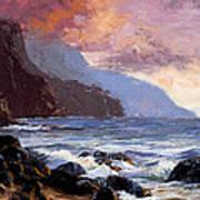 Coastal Cliffs Beckoning Poster by Mary Giacomini
