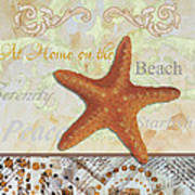 Coastal Decorative Starfish Painting Decorative Art By Megan Duncanson Poster