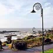 Coastal Overview At Lyme Regis Poster