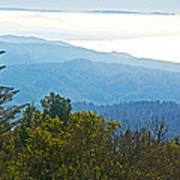 Coastal Range And Clouds From West Point Inn On Mount Tamalpias-california Poster
