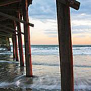Coastal Sunset At Oceanana Fishing Pier Poster