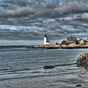 Coastal View Of Annisquam Lighthouse Poster