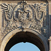 Coat Of Arms Of Portugal On Rua Augusta Arch In Lisbon Poster
