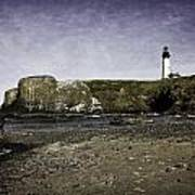 Cobble Beach At Yaquina Lighthouse Poster