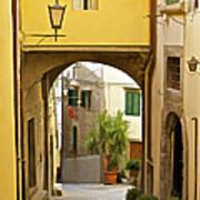 Cobblestone Street Of Tuscany Poster
