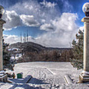 Cobbs Hill Park In Winter Poster