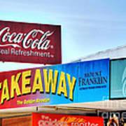 Coca-cola - Old Shop Signage Poster by Kaye Menner