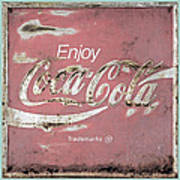 Coca Cola Pastel Grunge Sign Poster
